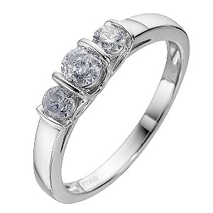 Platinum Half Carat Diamond Trilogy Ring