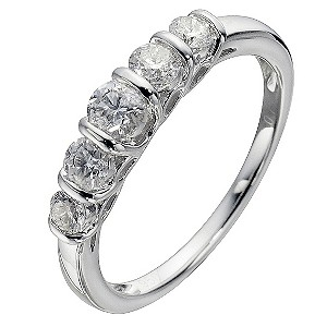 Platinum 3/4 Carat Diamond Eternity Ring