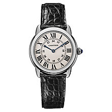 Cartier Ronde Solo ladies' stainless steel black strap watch - Product number 8583692