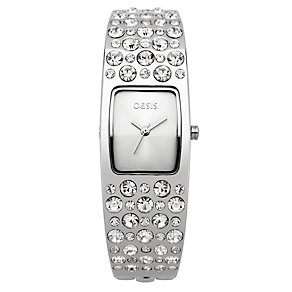 Oasis Ladies' Stone Set Bangle Watch - Product number 8583919