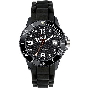 Ice Watch ladies' Black Silicone Strap Watch