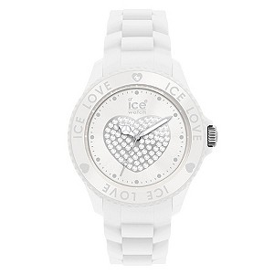 Ice Watch White Love Silicone Strap Watch