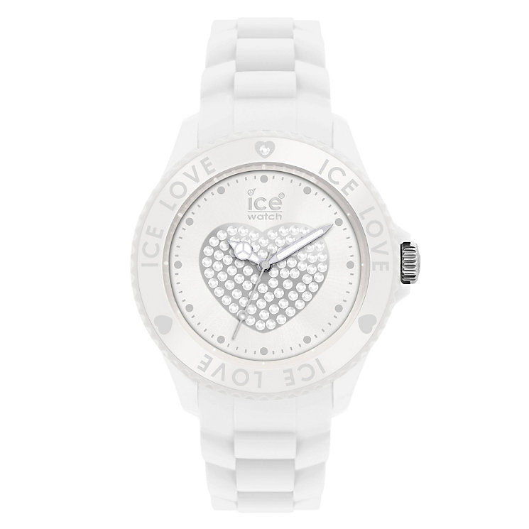 Ice-Watch White Love Silicone Strap Watch - Product number 8584001