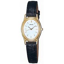 Seiko Ladies' Black Strap Watch - Product number 8584230