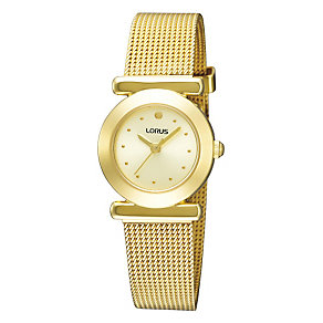 Lorus Ladies' Champagne Dial Mesh Bracelet Watch - Product number 8588465