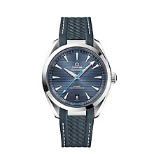 Omega Aqua Terra 150M Stainless Steel Blue Strap Watch - Product number 8588902