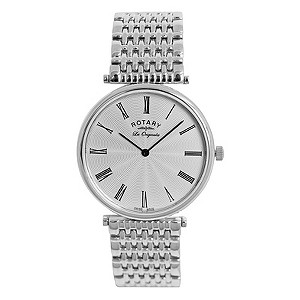 Rotary Men's Silver Dial Stainless Steel Bracelet Watch - Product number 8590354