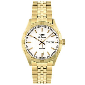 Rotary Men's Gold Plated Bracelet Watch - Product number 8590389