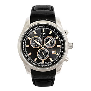 Rotary Men's Black Chronograph Watch - Product number 8590419