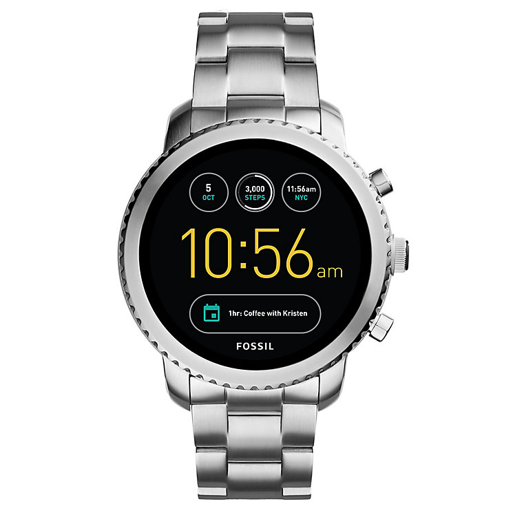 Fossil Q Men's Explorist Stainless Steel Smartwatch - Product number 8590486