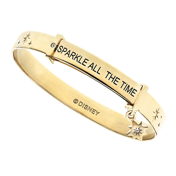 Disney Children's Tinker Bell Gold Plated Expander Bangle - Product number 8590621