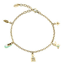 Disney Children's Tinker Bell Gold Plated Charm Bracelet - Product number 8590656
