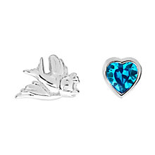Disney Children's Cinderella Bird & Crystal Heart Earrings - Product number 8590664