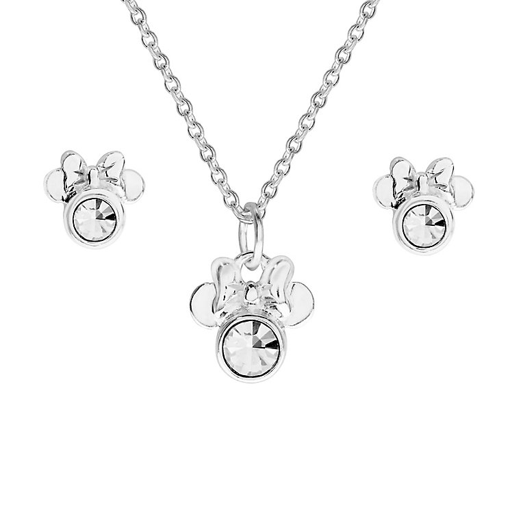 Disney Children's Minnie Mouse Silver Pendant & Earrings Set - Product number 8590745