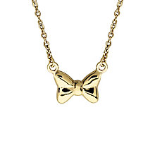 Disney Children's Minnie Mouse Gold Plated Bow Necklet - Product number 8590753