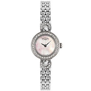 Rotary Ladies' Stone Set Stainless Steel Bracelet Watch - Product number 8591008