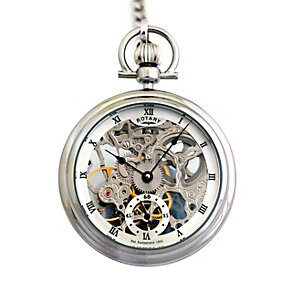 Rotary Men's Stainless Steel And Silver Pocket Watch - Product number 8591113