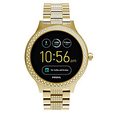 Fossil Q Ladies' Venture Yellow Gold Tone Stone Smartwatch - Product number 8592128