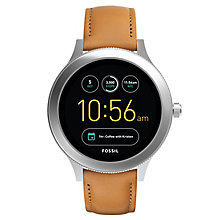Fossil Q Ladies' Venture Stainless Steel Leather Smartwatch - Product number 8592136