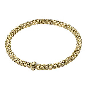 Fope Solo Flex-It 18ct yellow gold bracelet - Product number 8592845