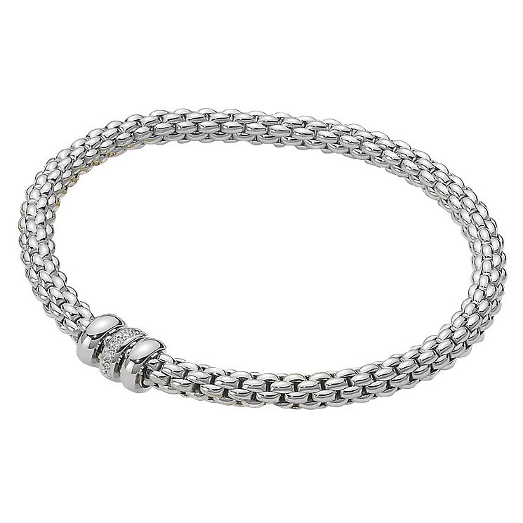 Fope Solo Flex-It 18ct white gold diamond bracelet - Product number 8592861