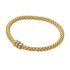 Fope Solo Flex-It 18ct yellow gold diamond bracelet - Product number 8592888