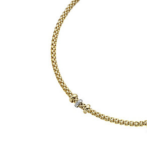 Fope Solo Flex-It 18ct yellow gold diamond necklace - Product number 8592896