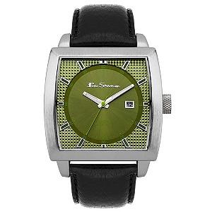 Ben Sherman Olive Dial Black Strap Watch