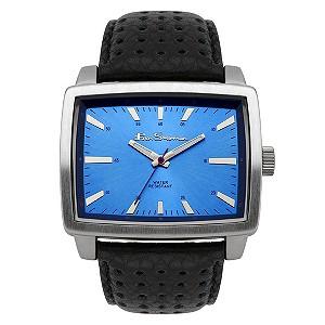 Ben Sherman Blue Dial Black Leather Strap Watch