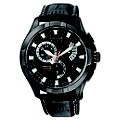 Citizen Men's Round Multi Dial Black Leather Strap Watch - Product number 8594880