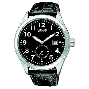 Citizen Eco-Drive Men's Black Dial And Strap Watch - Product number 8594937
