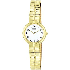 Citizen Ladies' Gold Plated Bracelet Watch - Product number 8595100
