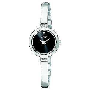 Citizen Eco-Drive Stainless Steel Half Bangle Watch