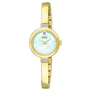 Citizen Eco-Drive Gold Plated Half Bangle Watch