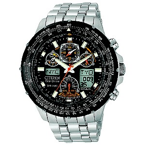 Citizen Mens' Two Tone Black Dial Chronograph Watch - Product number 8595283