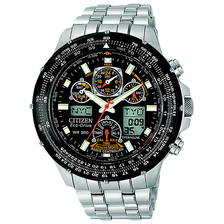 Citizen Eco-Drive Mens' Stainless Steel Chronograph Watch - Product number 8595283