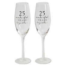 25th Anniversary Glass Champagne Flutes - Product number 8596026