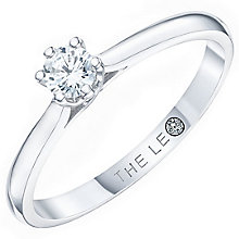 Leo Diamond 18ct Platinum 0.20ct CT I-P1 Diamond Ring - Product number 8596298