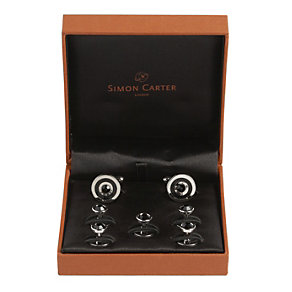 Simon Carter black stud dress cufflinks - Product number 8597928