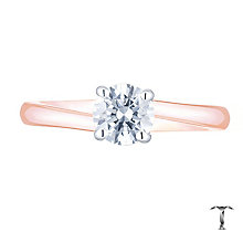 Tolkowsky 18ct Rose Gold 0.52ct Diamond Solitaire Ring - Product number 8599076