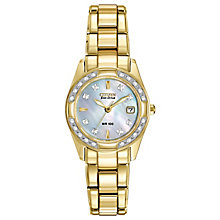 Citizen Eco-Drive Ladies' Gold Plated Bracelet Watch - Product number 8600139