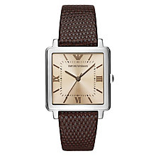 Emporio Armani Ladies' Stainless Steel Square Strap Watch - Product number 8601887