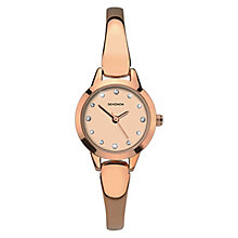 Sekonda Ladies' Rose Gold Plated Semi-Bangle Bracelet Watch - Product number 8602093