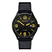 Sekonda Men's Black Nylon Strap Watch - Product number 8602433