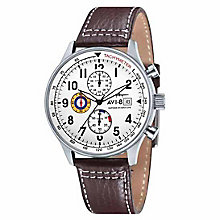 AVI-8 Men's Hawker Hurricane Brown Leather Strap Watch - Product number 8602816
