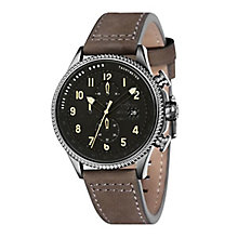 AVI-8 Men's Hawker Hunter Grey Leather Strap Watch - Product number 8602883