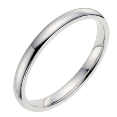 9ct white gold 2mm extra heavyweight wedding ring Ernest Jones