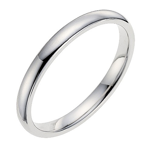 9ct white gold 2mm extra heavyweight wedding ring