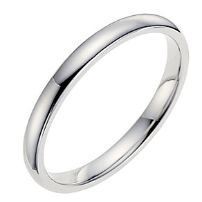 9ct white gold 2mm extra heavyweight wedding ring - Product number 8603235