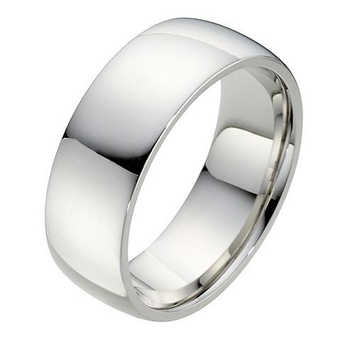 Palladium super heavy court ring 8mm
